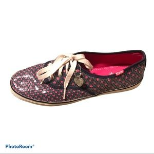 Taylor Swift Sequin Navy Pink Keds 8.5